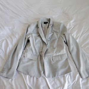 The Limited Light Gray Suit Jacket